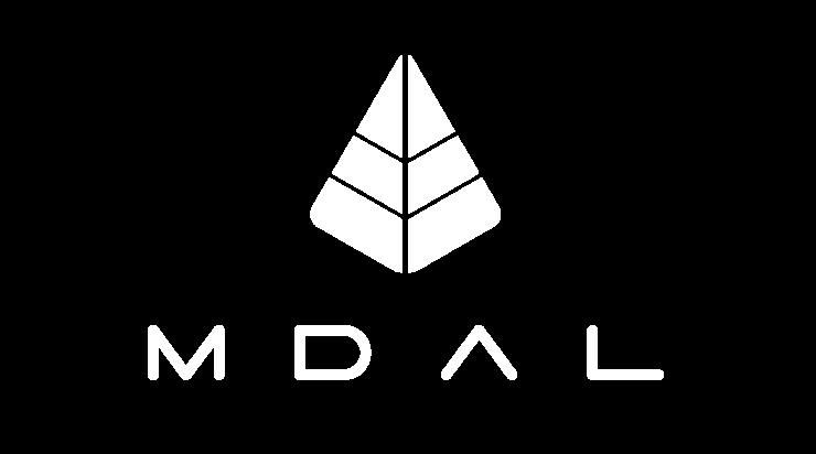 MDAL logo white