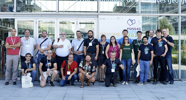 Image of the OSGeo Europe foundation team