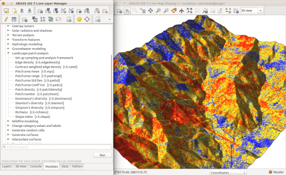 GRASS GIS graphical user interface