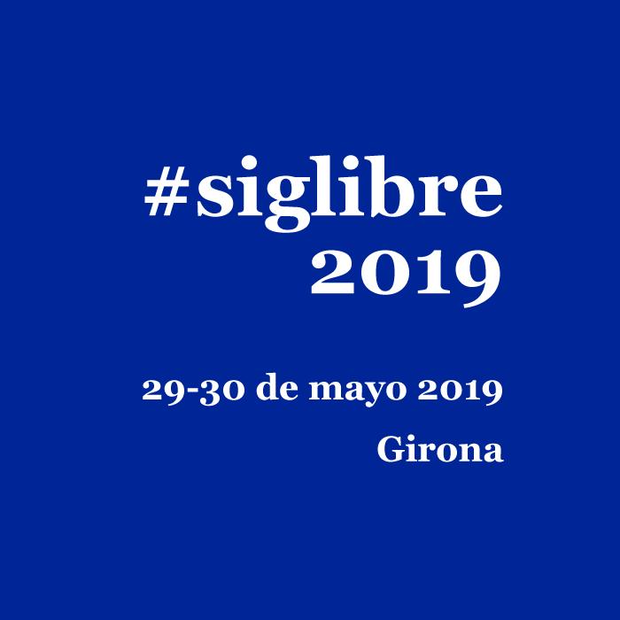 Jornadas SIG Libre 2019